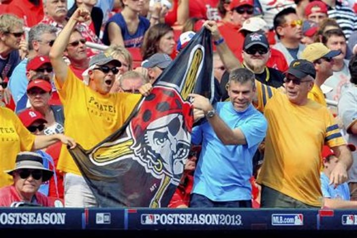 jolly roger in st. louis Pirates fans celebrate with the Jolly Roger.