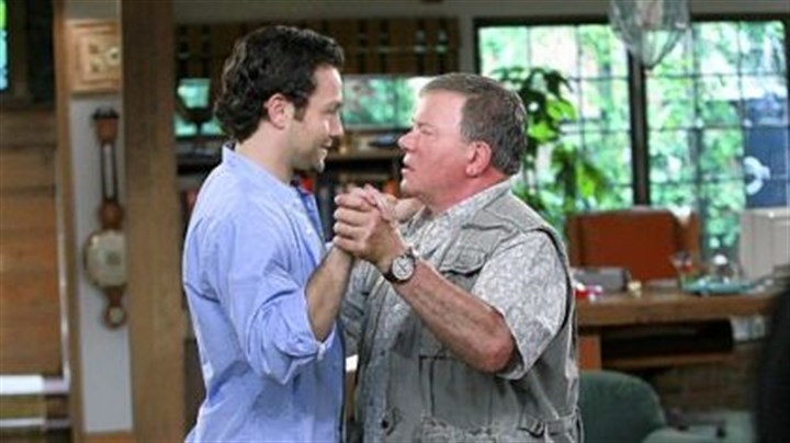 "Jonathan Sadowski and William Shatner After being laid off from his job, Henry, portrayed by Jonathan Sadowski, left, moves in with his cranky father, Ed, played by William Shatner, on ""$#! My Dad Says,"" premiering tonight."