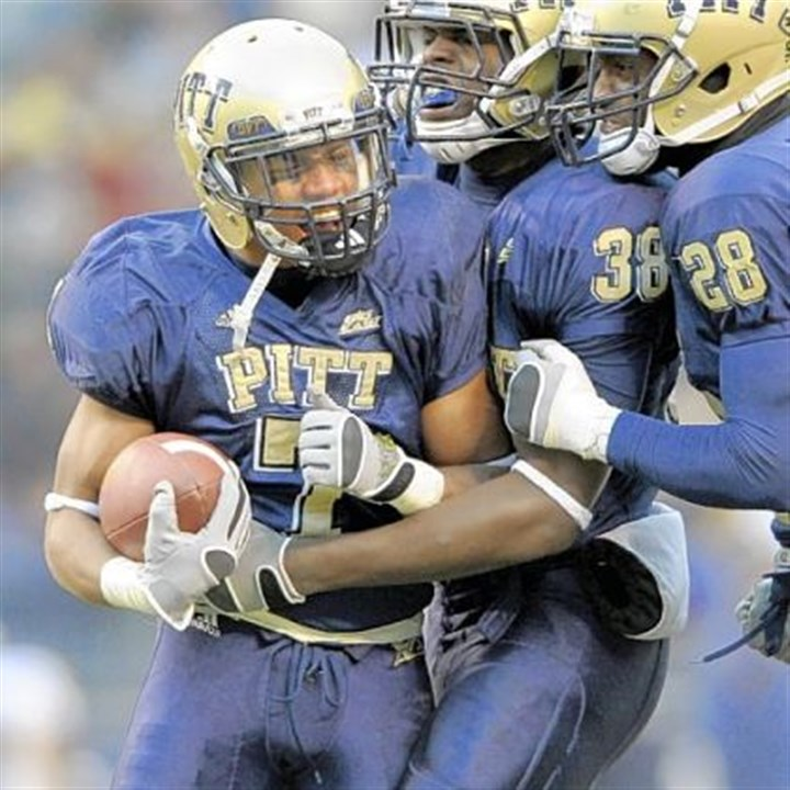 Jovani Chappel file Pitt's Jovani Chappel is congratulated by teammates Greg Williams and Eric Thatcher after his fourth quarter interception against West Virginia during a game Nov. 29, 2008 at Heinz Field.
