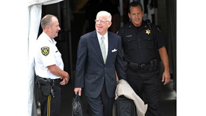 judge cleland Judge John M. Cleland leaves the Centre County Courthouse after the second day of testimony in the Jerry Sandusky trial.