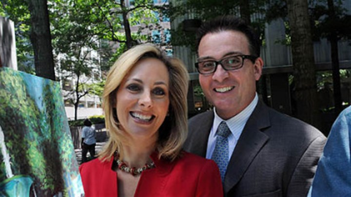 June June: KDKA television's Marty Griffin and Kristine Sorenson, husband and wife.