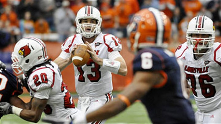 Justin Burke Louisville quarterback Justin Burke has thrown for 329 yards and six touchdowns this season.