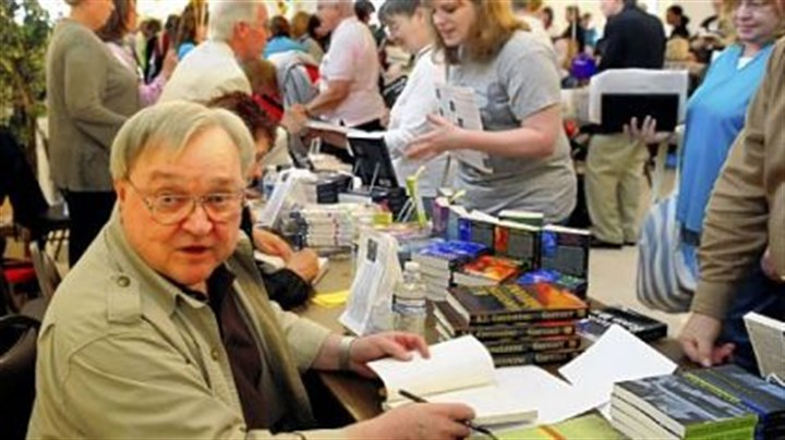 K.C. Constantine After years of mystery -- and writing them -- author K.C. Constantine appears at Monday's Festival of Mystery in Oakmont and signs his books among a bevy of buyers.