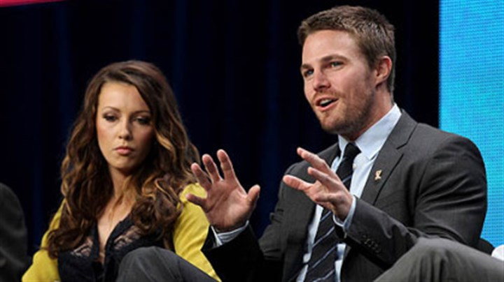 "Katie Cassidy and Stephen Amell Katie Cassidy and Stephen Amell talk about the CW show ""Arrow"" on Monday at the Television Critics Association summer press tour in Beverly Hills, Calif."
