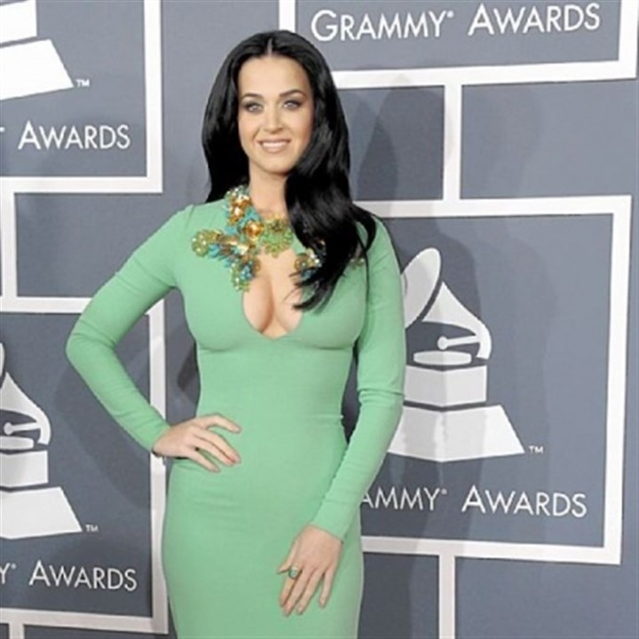 Katy Perry at the Grammys Katy Perry seemed a little overexposed at the 55th annual Grammy Awards.