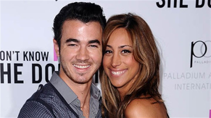 "Kevin and Danielle Jonas Singer Kevin Jonas and his wife, Danielle, aim to show they are a normal couple on ""Married to Jonas."""