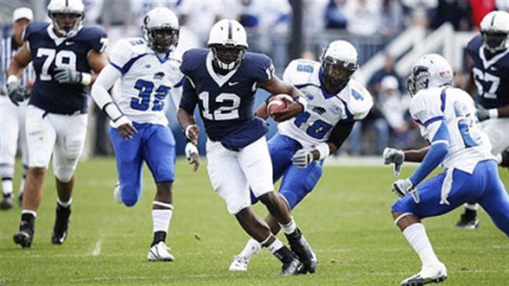 Kevin Newsome Penn State quarterback Kevin Newsome threw for 66 yards last season.