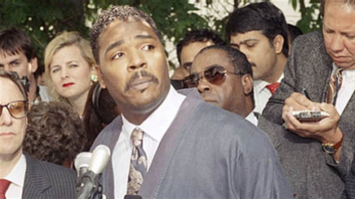 "King The May 1, 1992, news conference in Los Angeles where Rodney King asked, as the city was engulfed by riots, ""People, I just want to say, you know, can we all get along? Can we get along?"""