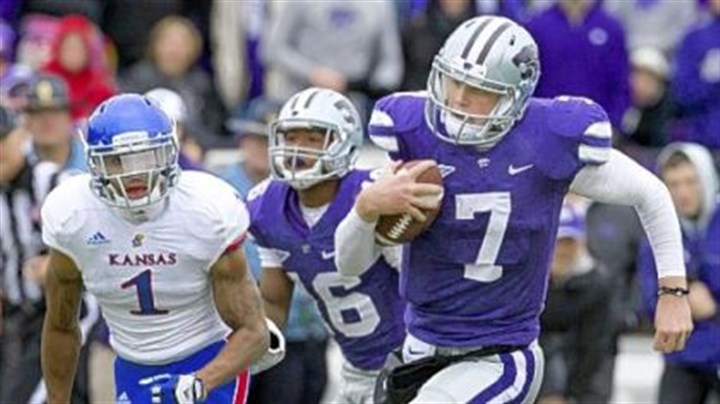 klein Former Kansas State quarterback Collin Klein runs for a touchdown last season against Kansas.