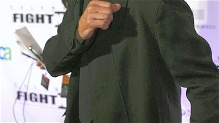 Kris Kristofferson Kris Kristofferson, who will perform here June 11, strikes a boxing pose at Muhammad Ali's Celebrity Fight Night XVI last month in Phoenix.