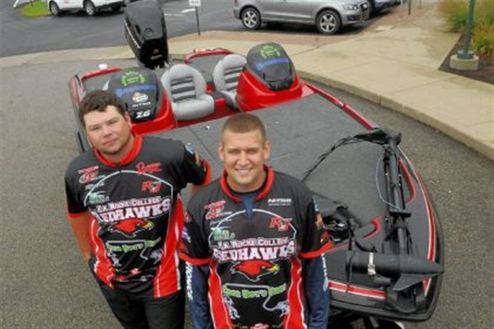 La Roche College fishing La Roche College fishing team members, Rich Smith of West Deer and Jonathan Coholich of Shaler, pose for a photo with the boat they use at tournaments. A college league created by the organization FLW has grown to 610 teams.
