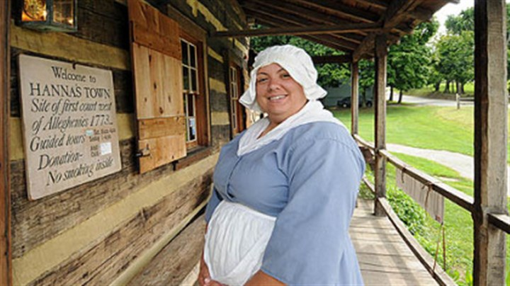 Labor though history Historic Hanna's Town guide Tiffany Kolbosky will be giving tours at the site on Labor Day.