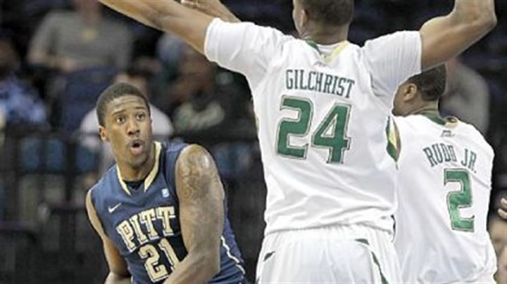 Lamar Patterson Augustus Gilchrist Victor Rudd Lamar Patterson looks for a way around the defense of forward Augustus Gilchrist and forward Victor Rudd in the first half Thursday in Tampa, Fla. South Florida ended Pitt's winning streak, damaging the Panthers' efforts to make the NCAA tournament.