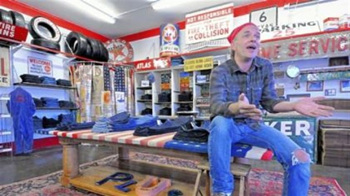 Lawrence Scott Since closing his Pittsburgh Jeans Co. store on the South Side, Lawrence Scott has refurbished an old gas station in New Eagle for his new online Plus jeans store.
