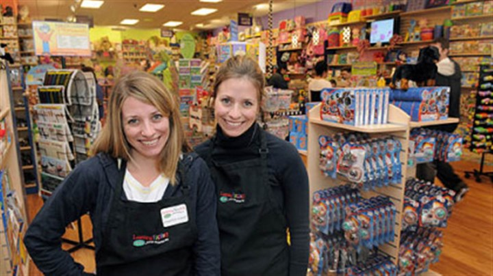 Learning Express Twin sisters Jennifer Palashoff and Julie Toussaint opened the Learning Express store in the Settlers Ridge shopping center in Robinson.