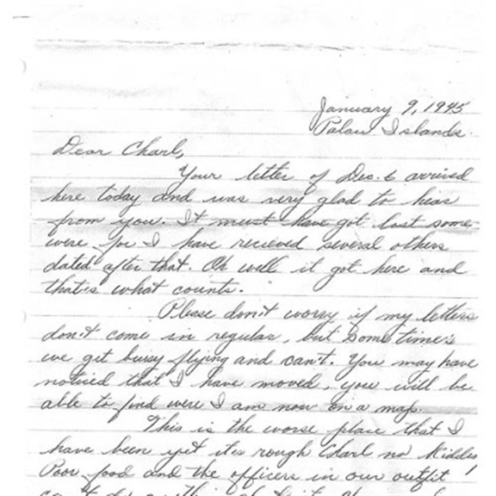 Letter Charlotte Johnson, a Pittsburgh woman, was pen pals with Andrew Rausch of Burlington, Wis.