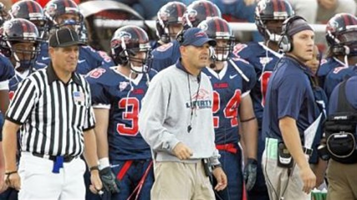 Liberty coach Danny Rocco Liberty coach Danny Rocco has led the Flames to two consecutive Big South Conference titles.