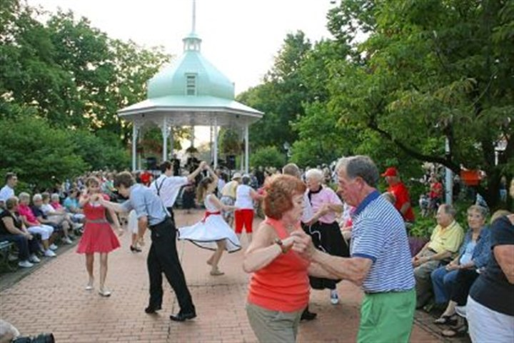 Ligonier Stroll Ten couples competed in a dance contest at the annual Stroll Back to the '50s Friday in Ligonier.