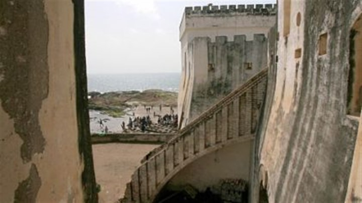 Living in shadow of slavery In this 2007 file photo, Ghanian fishermen return from fishing near Cape Coast Castle, which served as Britain's West Africa headquarters for the trans-Atlantic slave trade, in Cape Coast, Ghana. There has been some debate over recent restoration of the Ghanain slave castles, a project funded in part by $10 million from the U.S. government's Agency for International Development.