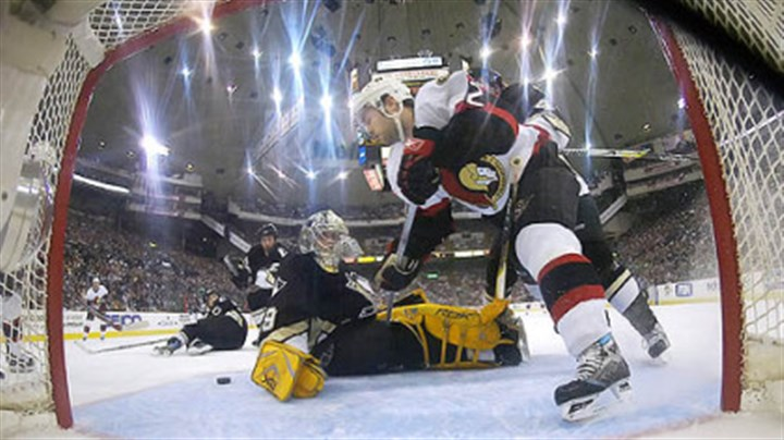 Lost footing Ottawa refused to allow the Penguins to get their footing in last season's playoffs.