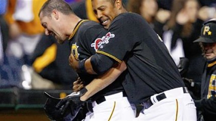 Ludwick Derrek Lee, right, celebrates with Ryan Ludwick after Ludwick hit the winning single in the ninth inning against the Reds Friday at PNC Park.