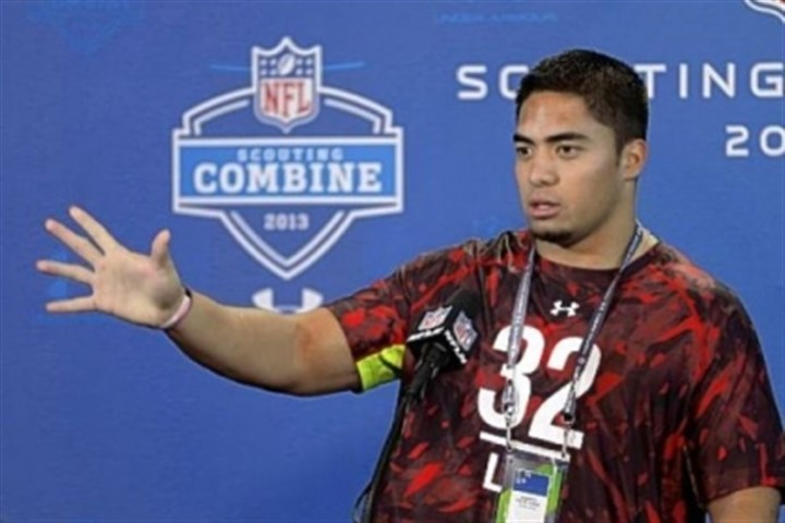 MantiTeo Manti Te'o faces the media Saturday in Indianapolis.