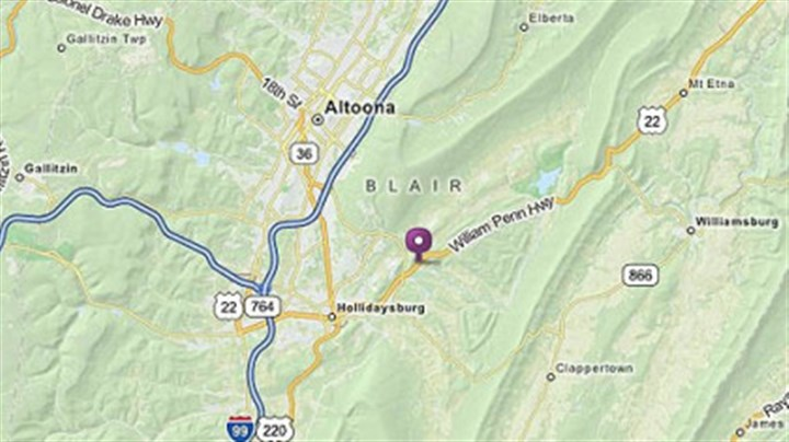 Map The site of the shootings in Frankstown Township near Hollidaysburg.