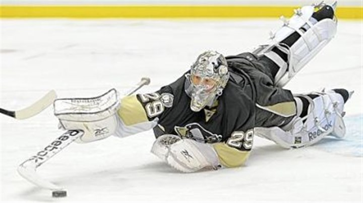"Marc-Andre Fleury Coach Dan Bylsma: ""There's a time when [Marc-Andre Fleury] has got to come up with the save."""