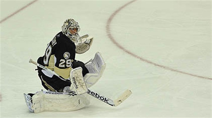 Marc-Andre Fleury Goaltender Marc-Andre Fleury and the Penguins are still looking for their first win at Consol Energy Center.