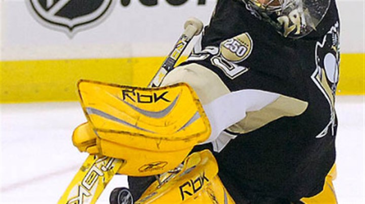 Marc-Andre Fleury Marc-Andre Fleury first practice today.