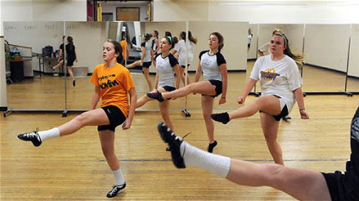 March March: Dancers at the Shovlin Academy of Irish Dance in Dormont.