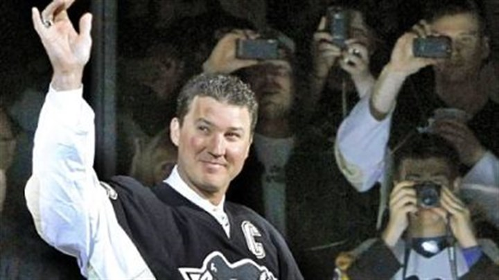 Mario Lemieux Pittsburgh Penguins owner and hockey Hall-of-Famer Mario Lemieux takes part in a pregame ceremony to commemorate the final regular season NHL hockey game played in the 41-year-old Mellon Arena, between the Penguins and the New York Islanders in April.