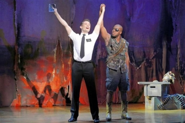 "Mark Evans and Derrick Williams Mark Evans and Derrick Williams star in the first national tour of ""The Book of Mormon."""