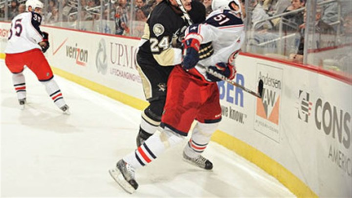 Matt Cooke and Fedor Tyutin Penguins forward Mtt Cooke was suspended four games for a hit against Blue Jackets defenseman Fedor Tyutin the first period of Tuesday's game at Consol Energy Center.