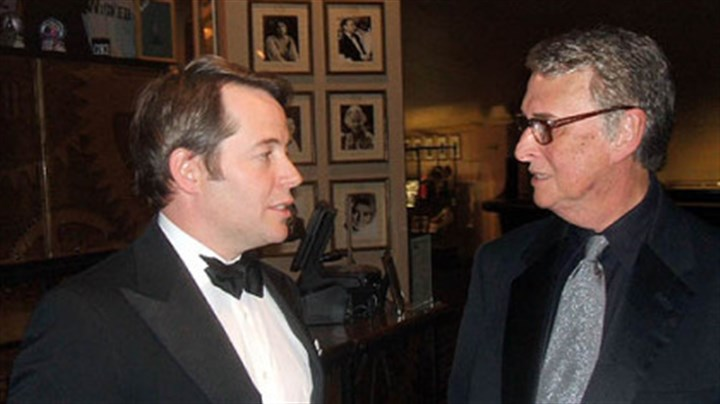 Matthew Broderick and Mike Nichols Matthew Broderick, left, chats with Mike Nichols in the lobby of the Gershwin Theatre, where Theater Hall of Fame portraits cover the walls.
