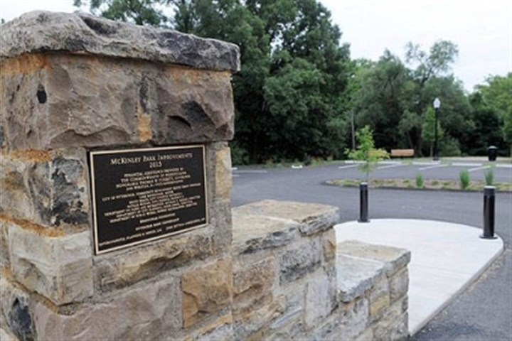 McKinley Park The Upper McKinley Park entrance off Delmont Avenue in Beltzhoover was rededicated after a $250,000 renovation.