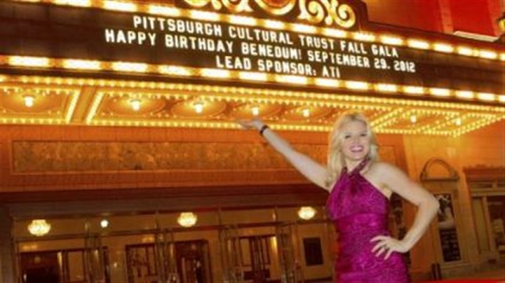 "Megan Hilty at party of the year Megan Hilty, star of NBC's ""Smash"" and a CMU grad, was featured at the Pittsburgh Cultural Trust's gala celebrating the 25th anniversary of the Benedum Center."