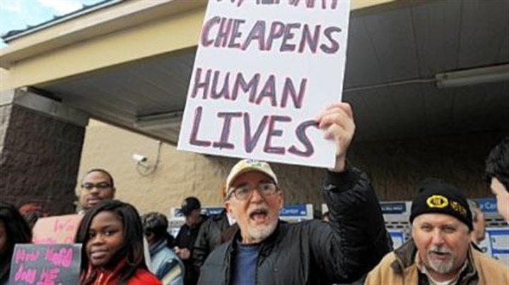 Mel Packer protests Mel Packer of Point Breeze was one protester outside the Waterworks Walmart.