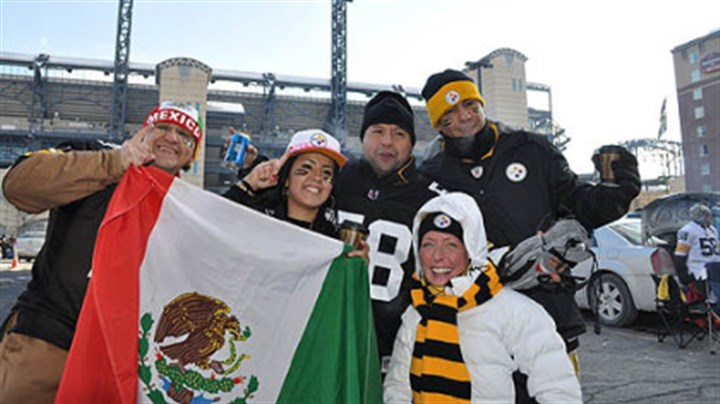 Mexico City fans A group of Steelers fans from Mexico City who traveled up to Pittsburgh for the AFC Championship game against the Jets.