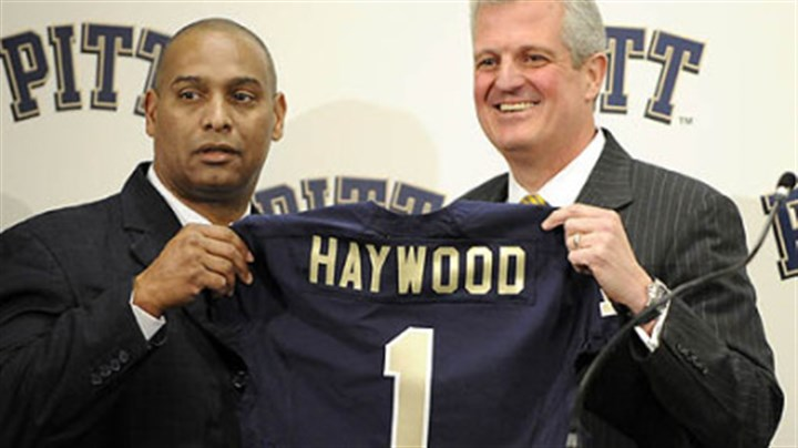 Michael Haywood and Steve Pederson Former Pitt head coach Michael Haywood, left, and athletic director Steve Pederson.