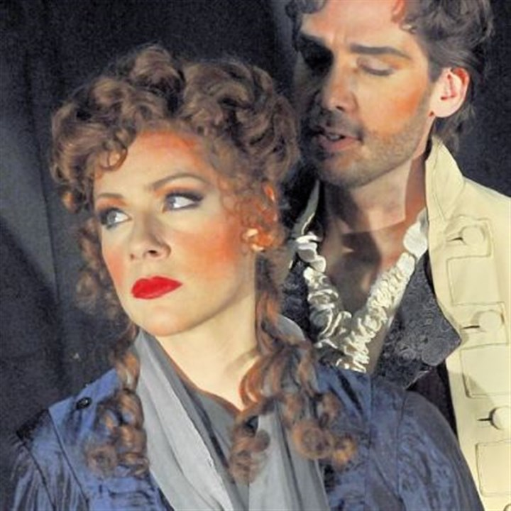 Michael Todd Simpson and Jennifer Holloway Don Giovanni is portrayed by Michael Todd Simpson, seen here with Jennifer Holloway who plays Donna Elvira.
