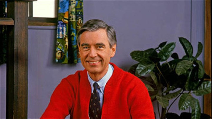 Mister Rogers Mister Rogers in the same pose as Daniel Tiger.