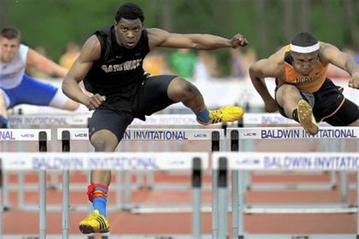 Montae Nicholson Gateway's Montae Nicholson set a record in winning the WPIAL title in the 110-meter hurdles event.