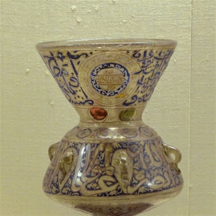 Mosque Lamp Mosque Lamp, 14th century, possibly Syrian, glass and enamel.