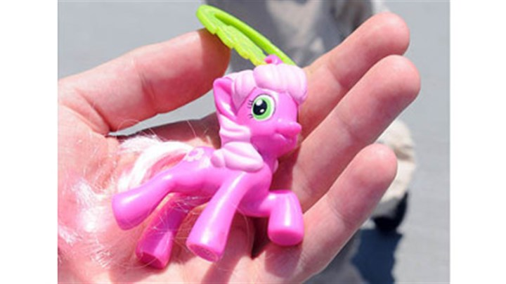 my litle pink pony A My Little Pony figure