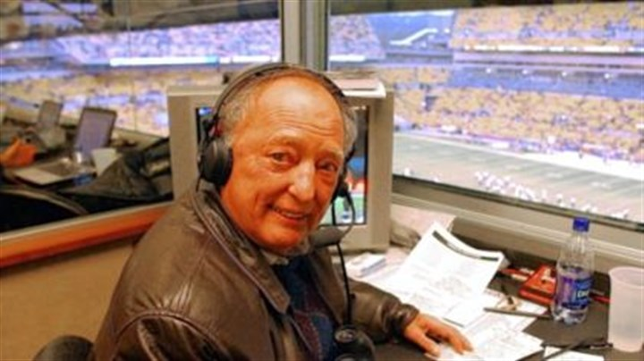 Myron Cope at Heinz Field Myron Cope works the Steelers game against the New York Jets at Heinz Field on Dec. 12, 2004.