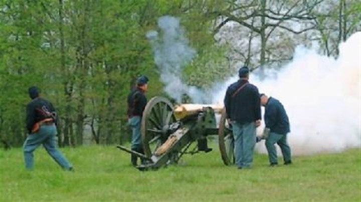 Napoleon cannon Chris Sedlak of Banksville used money earned during 19 months of military service in Iraq to buy a cannon used in Civil War re-enactments. He spent $30,000 on the working replica of a 1857 Napoleon cannon, $12,000 for its carriage and $5,000 for a trailer to haul it. His truck needed $3,000 in modifications to tow 6,000 pounds.