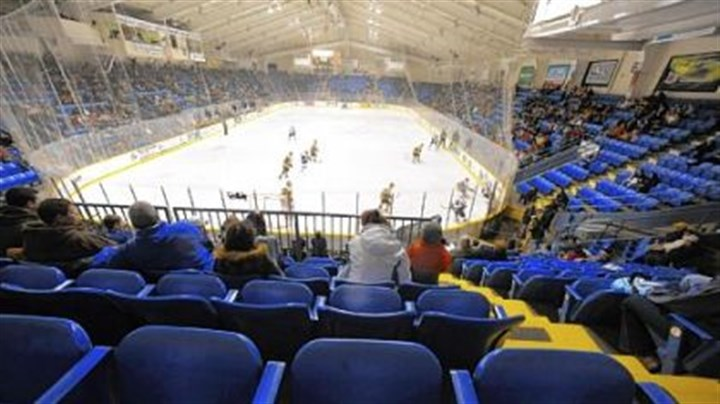 Nearly empty stadium Johnstown Chiefs game at the War Memorial on Feb. 14, the day the Chiefs confirmed they would be leaving after the season.