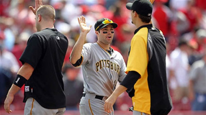 Neil Walker Pirates second baseman Neil Walker, center, is congratulated following Thursday's win against the Reds at Great American Ball Park in Cincinnati.