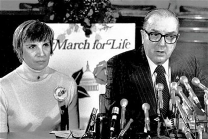 nellie gray Nellie Gray, with Sen. Jesse Helms, 1980